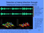 detection of lateral direction through interaural cross correlation iacc