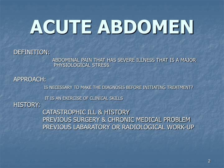 Acute abdomen1