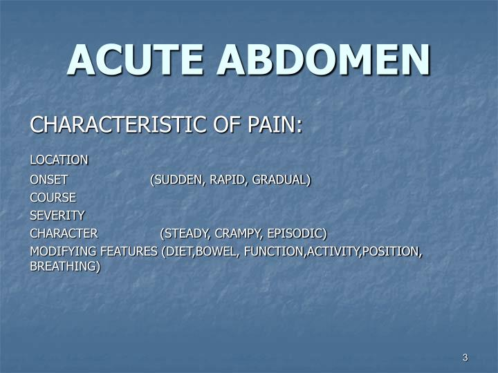 Acute abdomen2