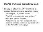 dpapss workforce competency model