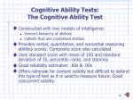 cognitive ability tests the cognitive ability test