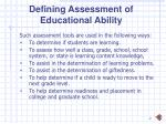 defining assessment of educational ability