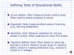 defining tests of educational ability