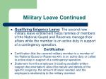 military leave continued