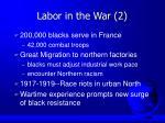 labor in the war 2