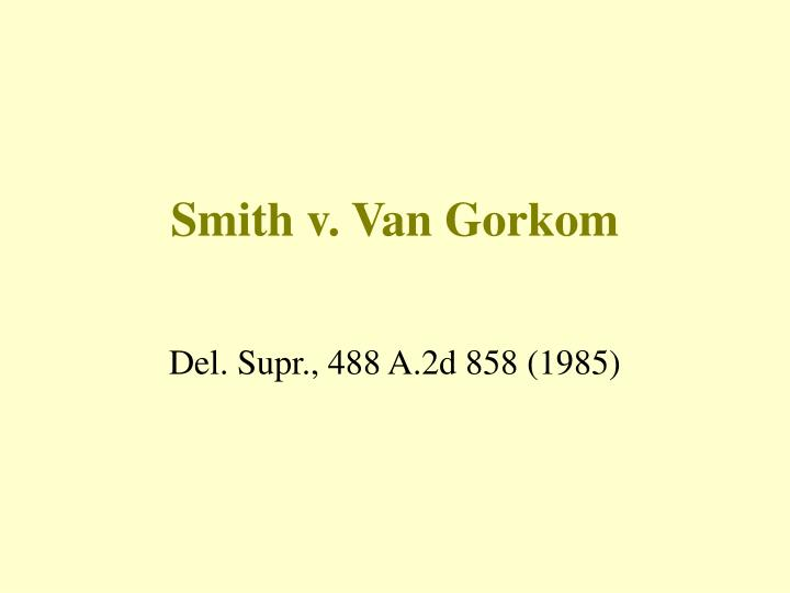 smith v van gorkom n.