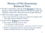 history of file structuring balanced trees