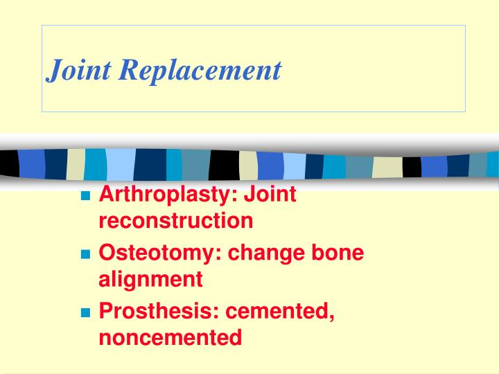 joint replacement n.