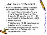aap policy statements