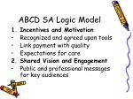 abcd sa logic model