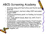 abcd screening academy