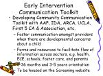 early intervention communication toolkit