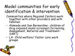 model communities for early identification intervention