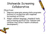statewide screening collaborative