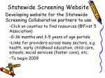 statewide screening website