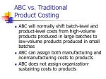 abc vs traditional product costing