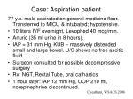 case aspiration patient