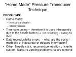 home made pressure transducer technique1