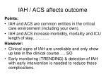 iah acs affects outcome