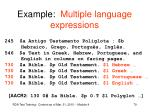 example multiple language expressions