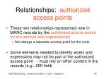 relationships authorized access points