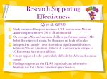 research supporting effectiveness1