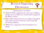 research supporting effectiveness2