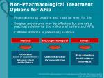 non pharmacological treatment options for afib