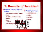 1 results of accident
