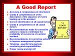 a good report