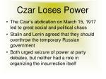 czar loses power