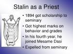 stalin as a priest