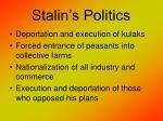 stalin s politics