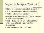 england in the age of metternich