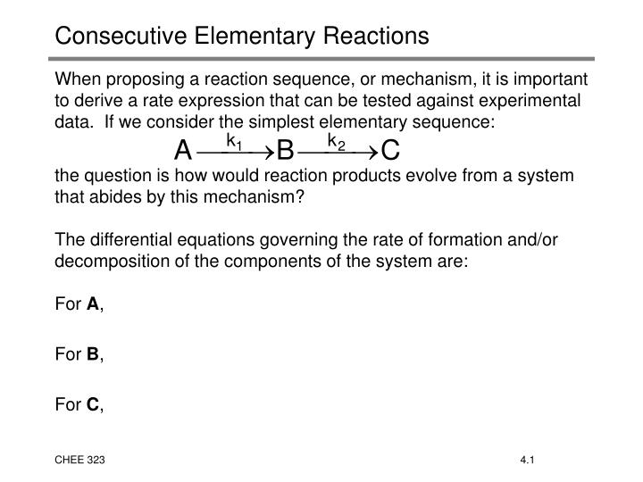 consecutive elementary reactions n.