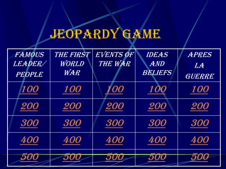 jeopardy game n.