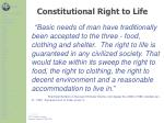 constitutional right to life1