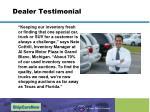 dealer testimonial