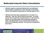 dedicated internet sales consultants