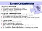 eleven competencies