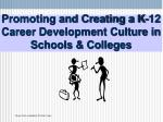 promoting and creating a k 12 career development culture in schools colleges