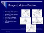 range of motion passive