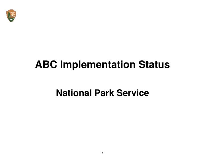 abc implementation status n.