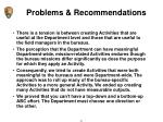 problems recommendations3