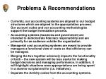 problems recommendations5