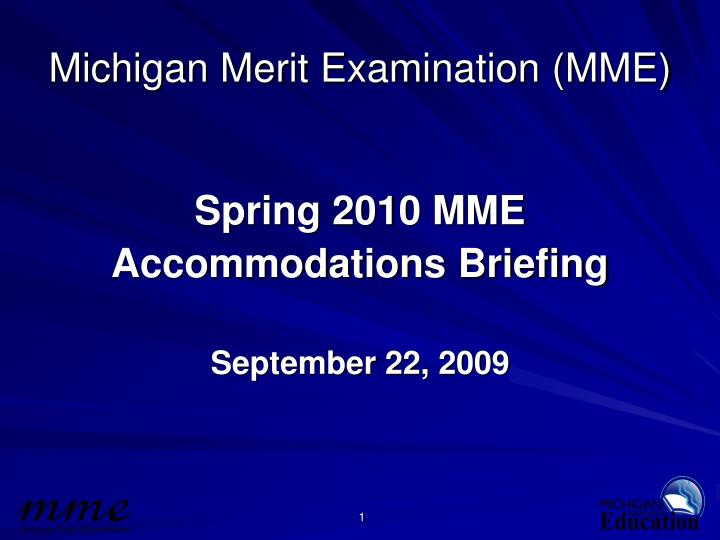 michigan merit examination mme n.