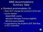 mme accommodations summary table4