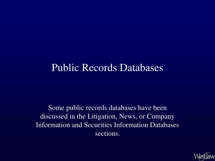 public records databases n.