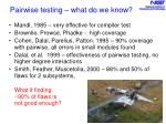 pairwise testing what do we know