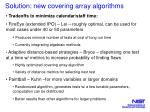 solution new covering array algorithms